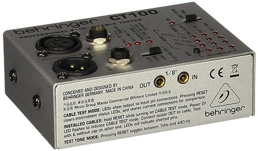 22 opinioni per Behringer CT100 tester per cavi audio