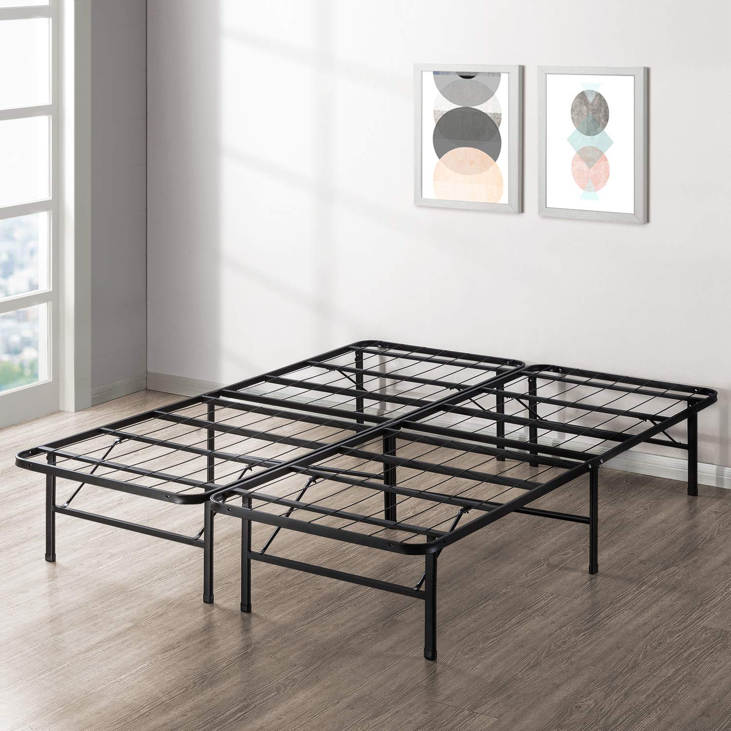 Best Price Mattress New Innovated Box Spring Metal Bed Frame, Queen by Best Price Mattress