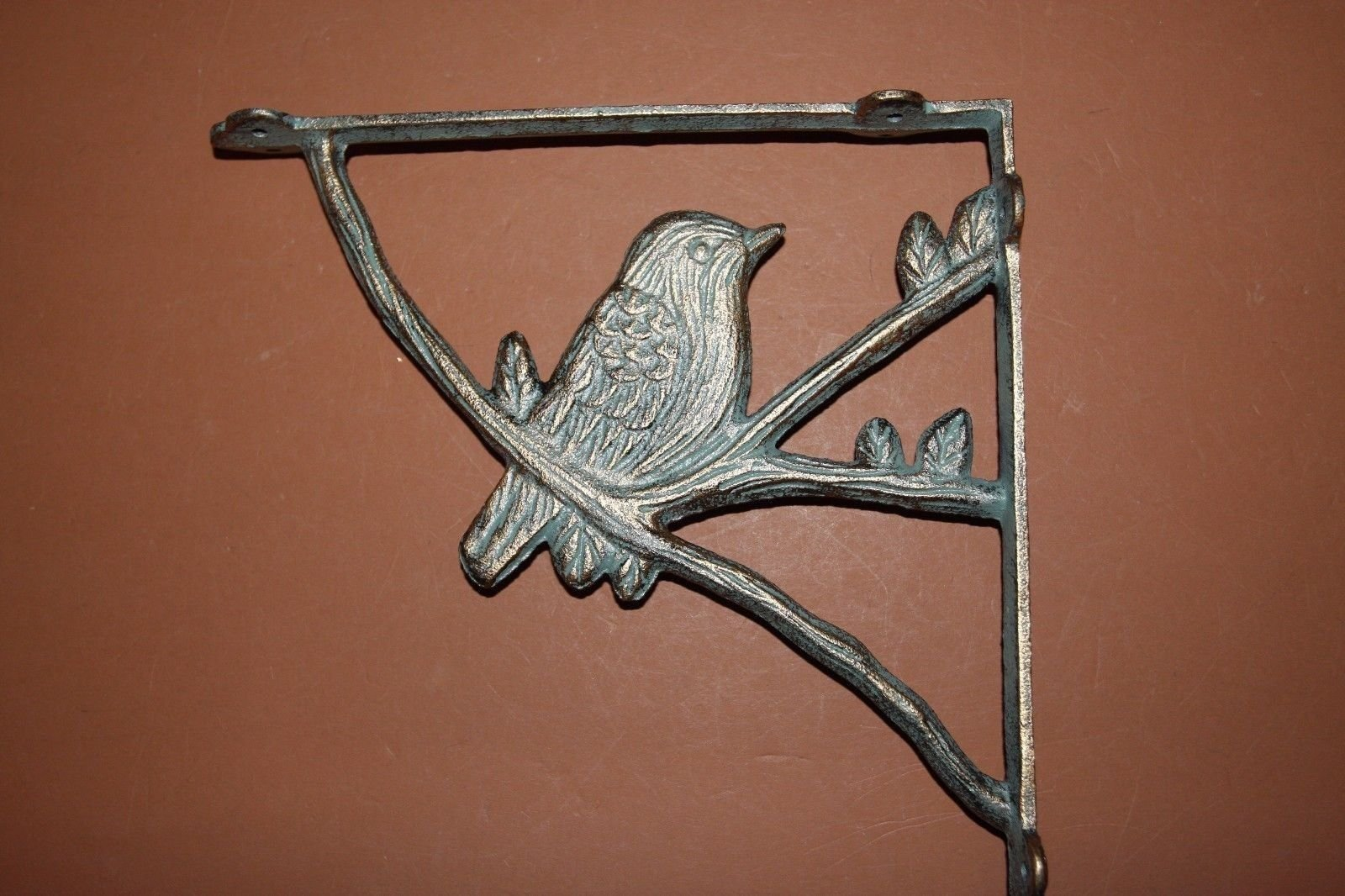 (8) Bronze-look Bird Shelf Brackets, Cast Iron, Corbels, Country Bird, 8 pc,B-44 by Dapeshop