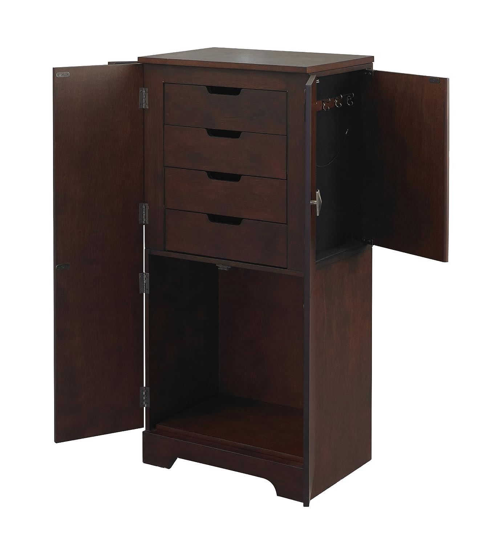 Amazon Linon Home Dcor 55235ESP 01 KD U Decor Victoria Jewelry Armoire 40 X 19 13 Espresso Kitchen Dining