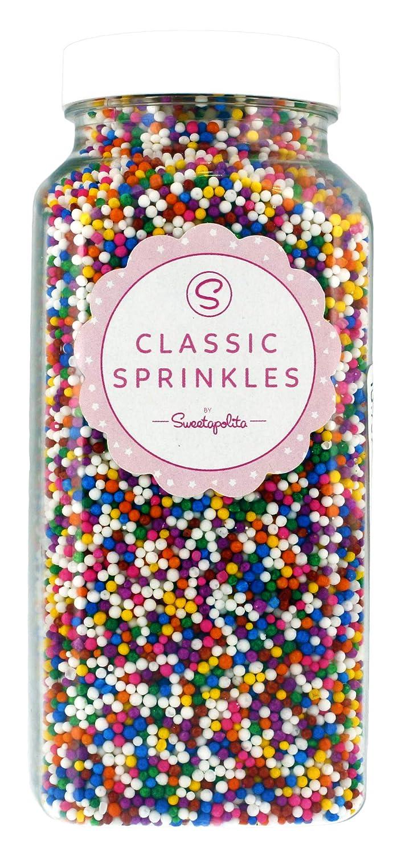 Sweetapolita Sprinkles - Rainbow Classic Nonpareils, 16
