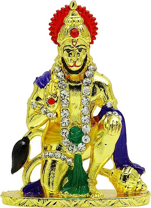 Galaxy Karmaa Brass Material Ganesha Statue for Car Dashboard