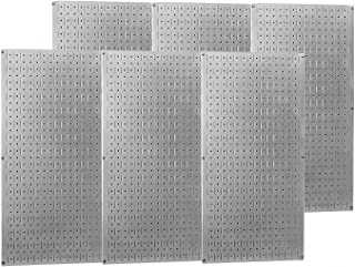 product image for Wall Control Industrial Metal Pegboard - Galvanized Metal, Six 16in. x 32in. Panels, Model Number 35-P-3296GV