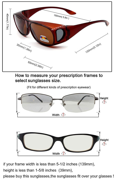 Sonnenbrille Überziehbrille für Brillenträger Brille Herren Damen ...