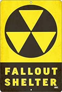 Rogue River Tactical Funny Warning Nuclear Radiation Fallout Shelter Home Work Office Metal Tin Sign Wall Decor Bar Man Cave