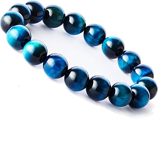 6mm Fashion Mens Women Lava Stone Tigers Eye Yoga Beaded Necklace Gemstone Beads