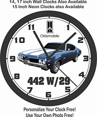 amazon 1969 oldsmobile 442 w29 wall clock free usa ship home 1970 Plymouth Duster Black 1969 oldsmobile 442 w29 wall clock free usa ship