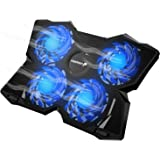 "Fosmon 4 Fan Cooling Pad for 13"" to 17-inch Gaming Laptop PS4 MacBook Pro, [1200 RPM