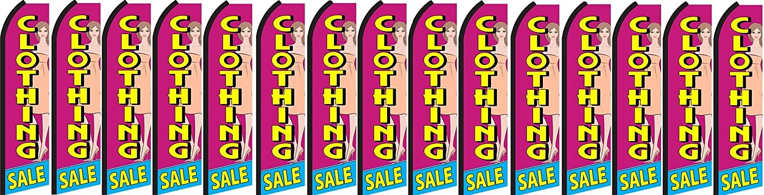 Clothing Sale King Swooper Feather Flag Sign Pack of 15 Hardware not Included