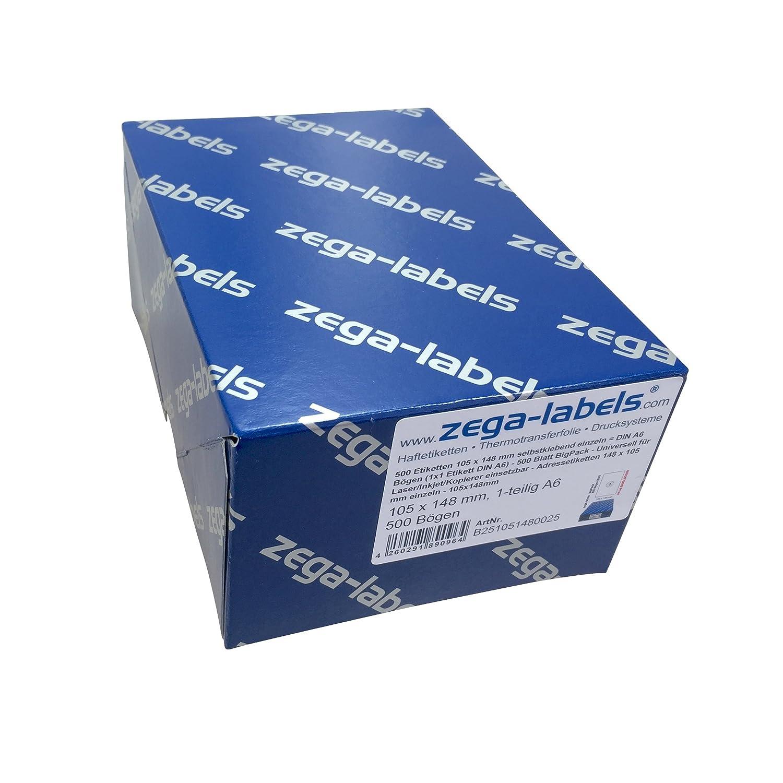 400 Adressetiketten A6 105x148mm DIN A4 Bogen Papier selbstklebend Laser