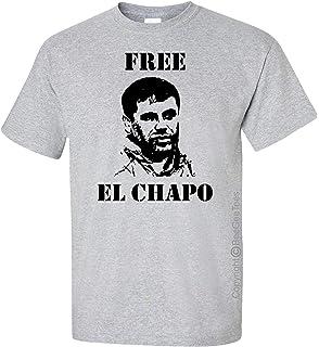 BeeGeeTees Free El Chapo Guzman Sketch Silhouette Funny T-Shirt