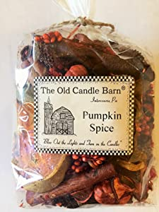 Old Candle Barn Pumpkin Spice Potpourri 4 Cup Bag - Perfect Fall Decoration or Bowl Filler - Beautiful Autumn Scent