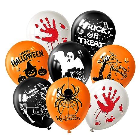FEPITO 12  quot Halloween Decorazioni Lattice Palloncini 18 Pz Halloween  Fun Party Balloons con 7. Scorri sopra l immagine per ingrandirla 4b491112b9ff