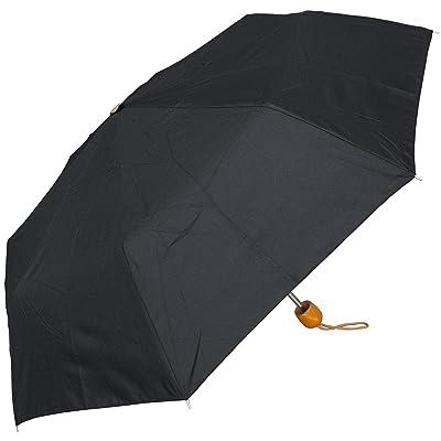"RainStoppers W011 Super Mini Arc Umbrella with Wood Handle, Black, 42"""