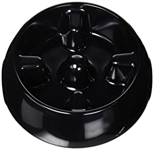 Dogit Go Slow Anti-Gulping Dog Bowl, Slow Feeding Dog Dish Suitable for Wet Or Dry Food, Large, Black