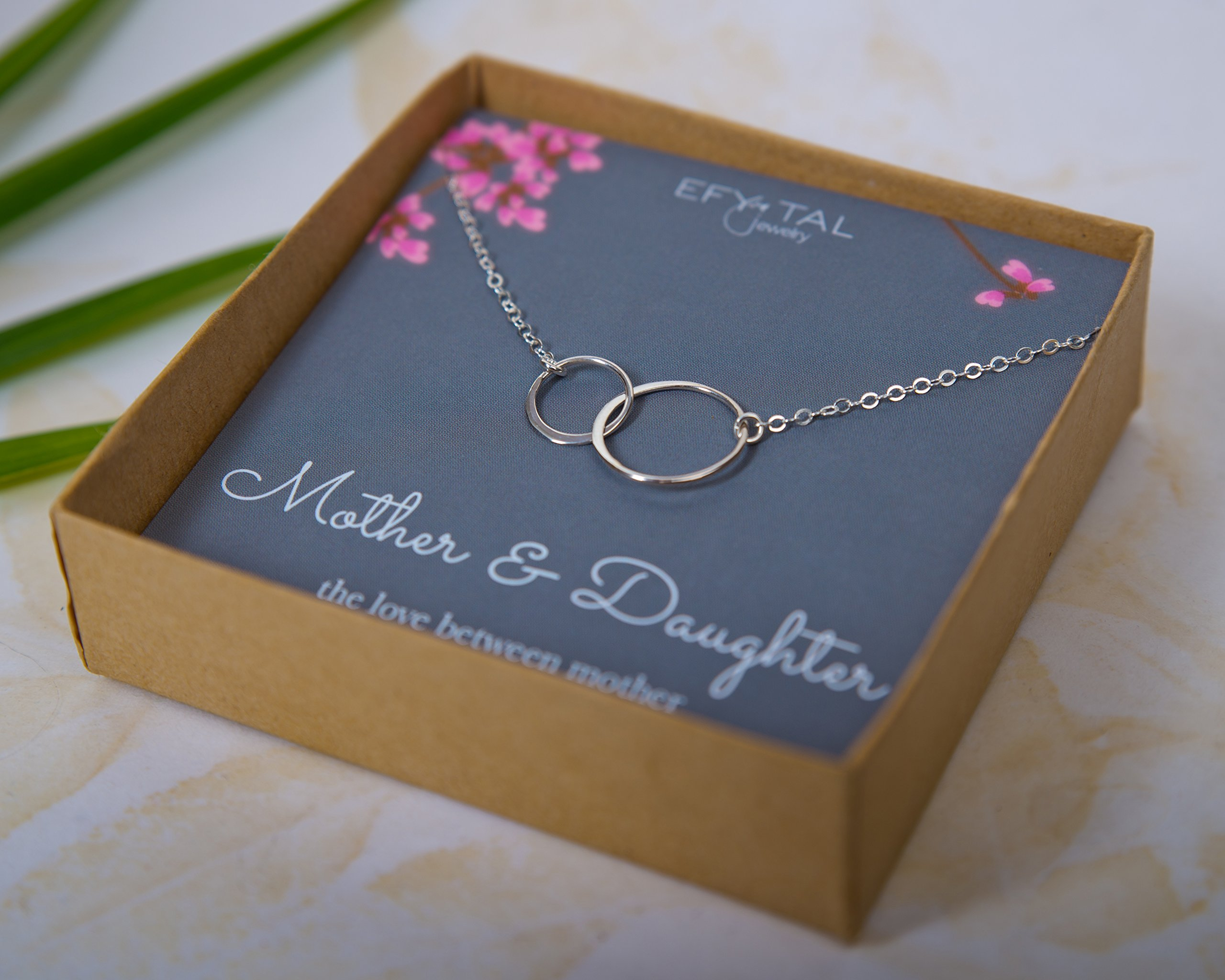 Mother-Daughter-Necklace-Sterling-Silver-Two-Interlocking-Infinity-Double-Circles-Mothers-Day-Jewelry-Birthday-Gift