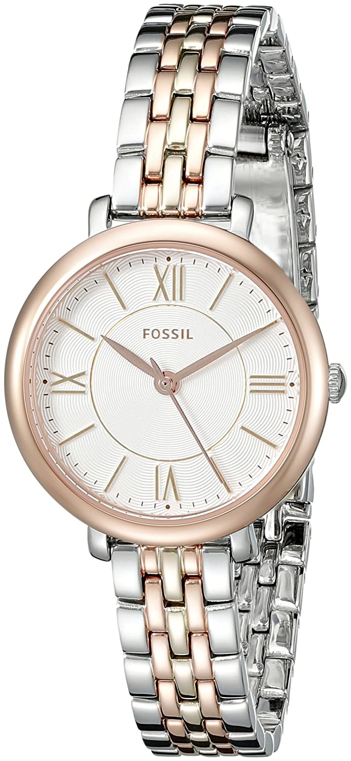 11b5302a8a1a Fossil Women's ES3847 Jacqueline Small Three-Hand Two-Tone Stainless Steel  Watch: Fossil: Amazon.co.uk: Watches