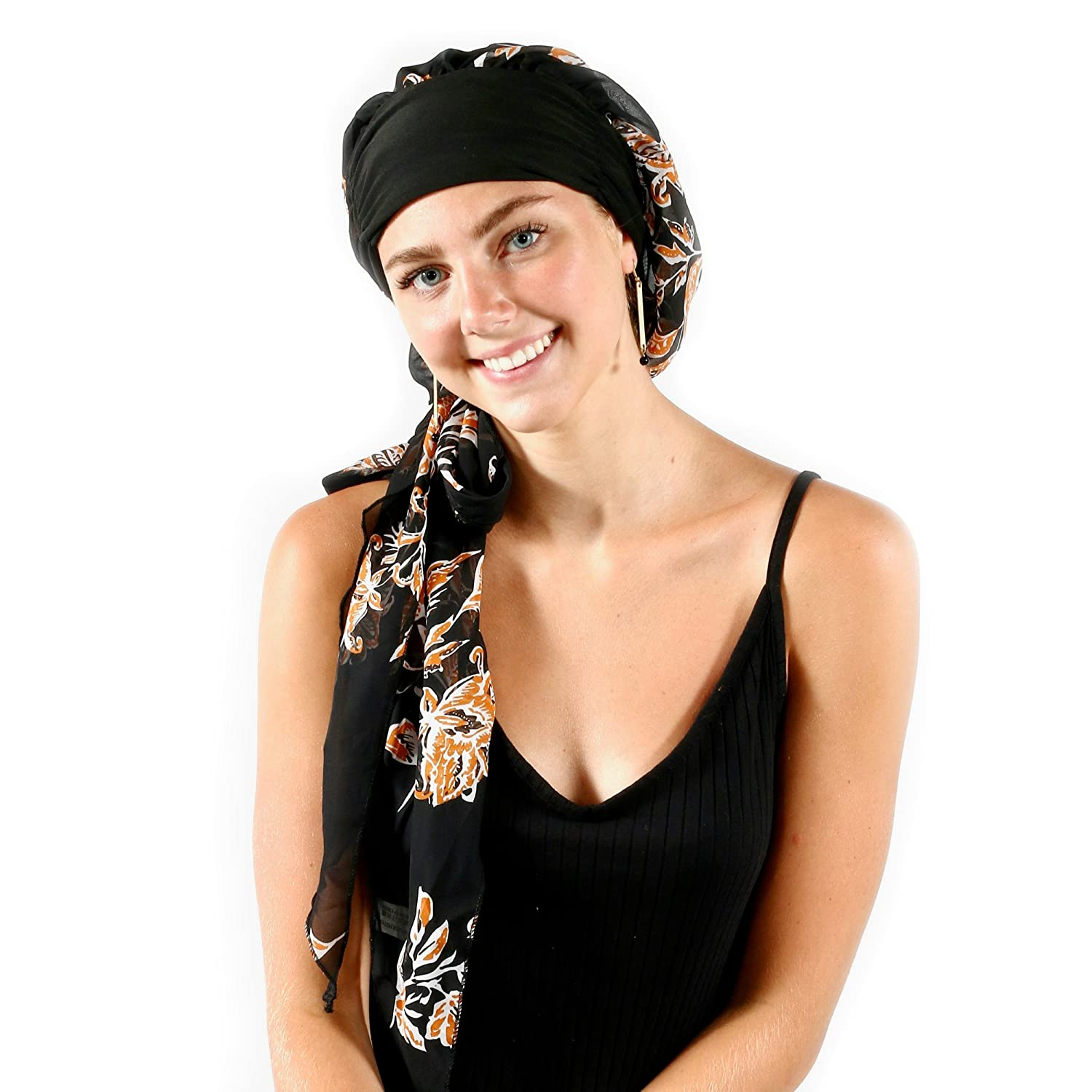 Amazon.com  Pretty Simple Headwear Turbans for Women After Chemo Long Hair  Head Scarf Headwraps Cancer Hats for Alopecia fe94b8d550a