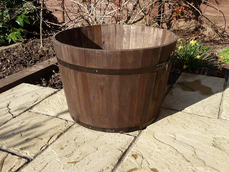 Simply Wood Premium Wine Barrel Planter SALE !!! Extra Large PLUS !!