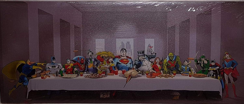 DC Comics última cena comida pelea Batman Superman grande en lienzo choicefullbargain: Amazon.es: Hogar