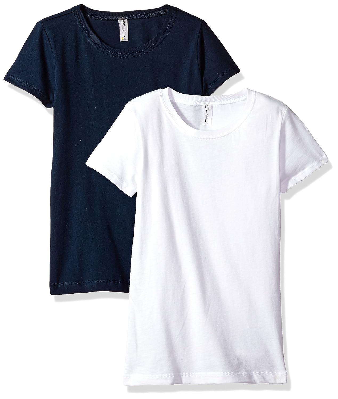 e97878497e511b Amazon.com  Clementine Girls  Big Everyday T-Shirts Crew 2-Pack ...