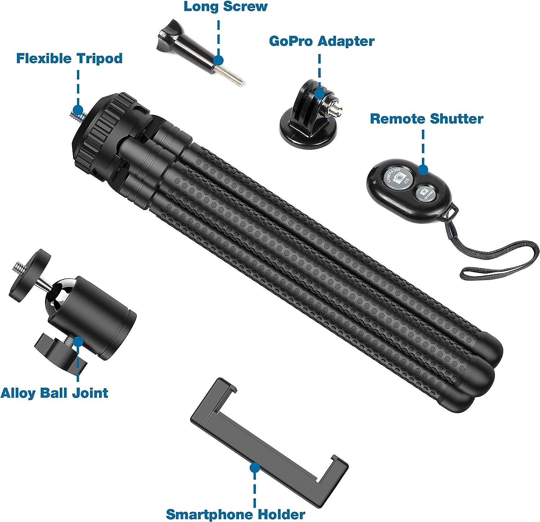 SSLine Portable Travel Camera Tripod Aluminum Alloy Lightweight Tripod Stand for Camera Smartphone DV Video