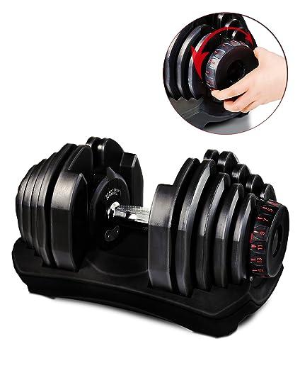 Mancuerna ajustable Sportstech 17-1 con innovador sistema Click de 5 a 40 kg, ...