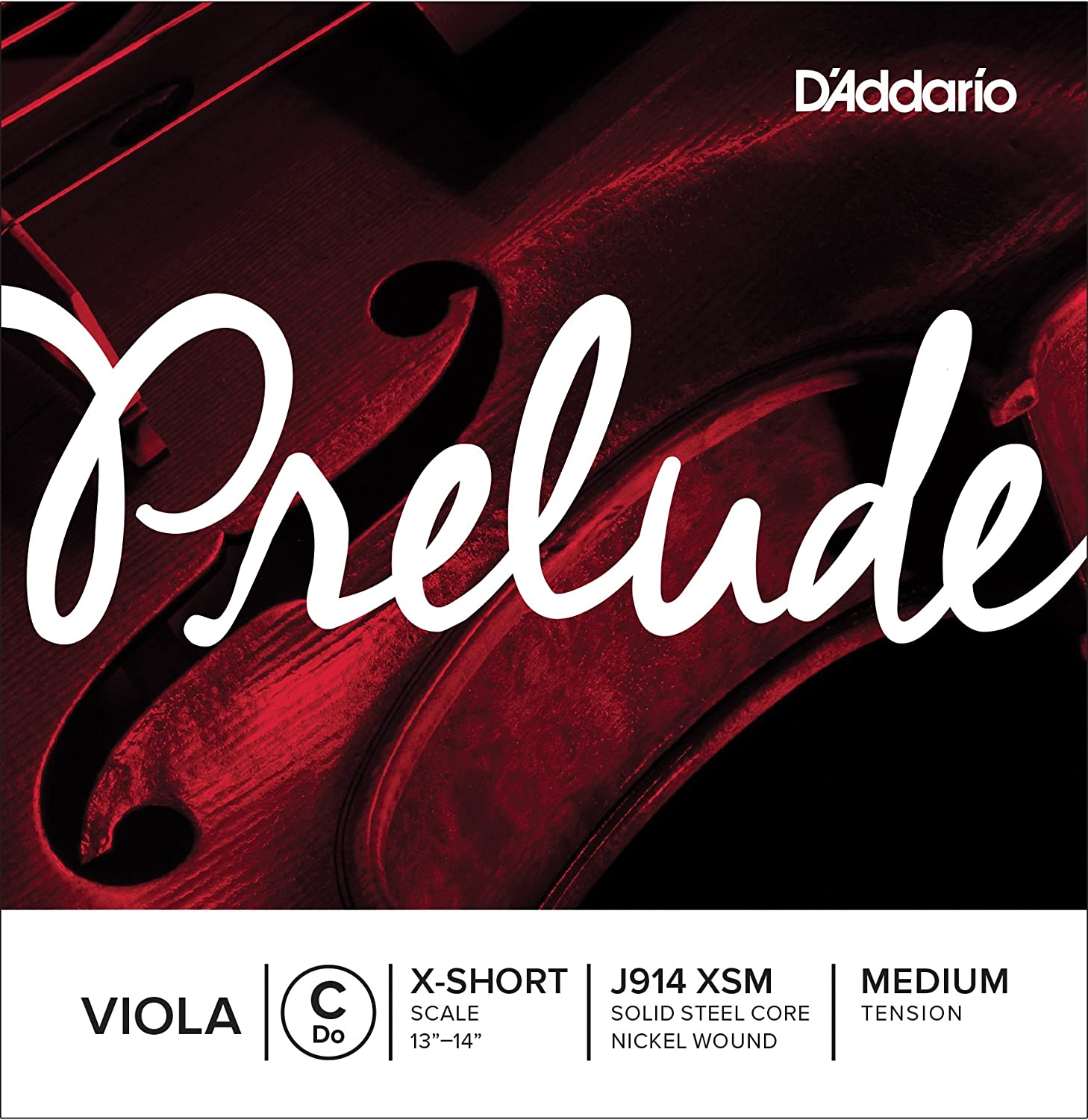 D'Addario Prelude Viola Single C String, Extra Short Scale, Medium Tension D' Addario J914 XSM