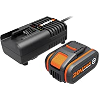 Worx WA3604 Battery & Charger Kit Powershare 20V 4.0Ah MAX Lithium-ion Battery & Charger Kit
