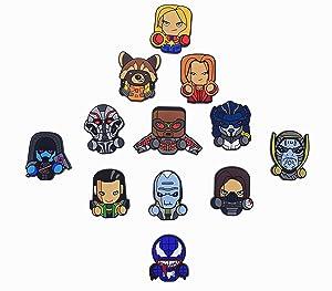 Exclusive Superhero Fridge magnets - Marvel Cinematic Universe Superheroes - DC Comics Superheroes Collectible Figures (Infinity War + Captain Marvel + Venom)