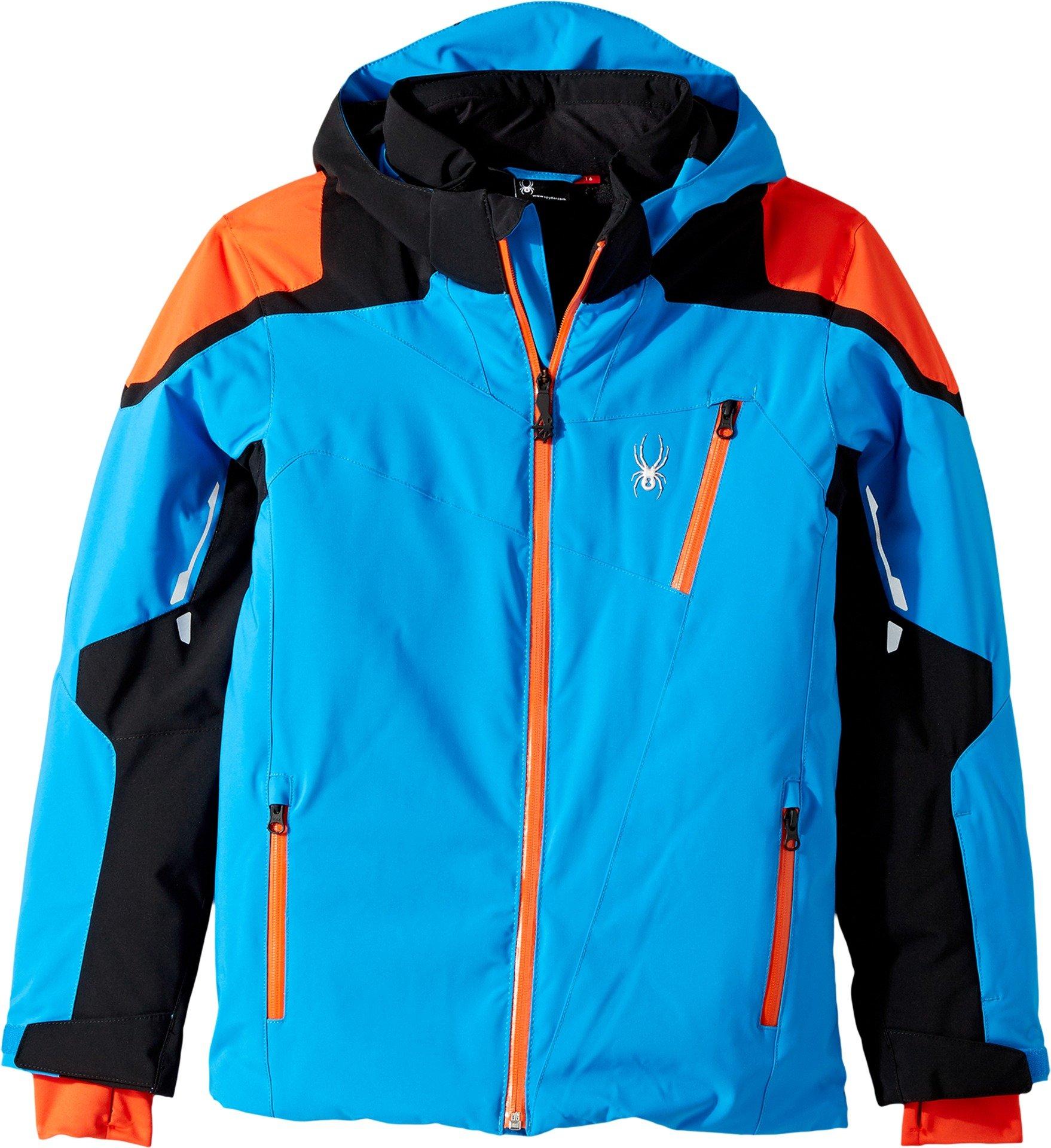 Spyder Kids Boy's Speed Jacket (Big Kids) French Blue/Black/Burst 14