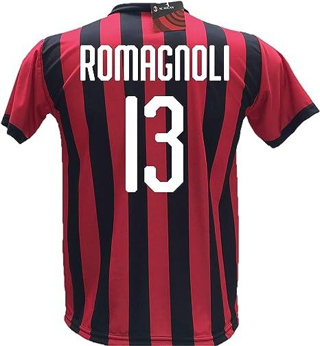 Camiseta de fútbol Romagnoli 13 Milan réplica autorizada 2018-2019 ...