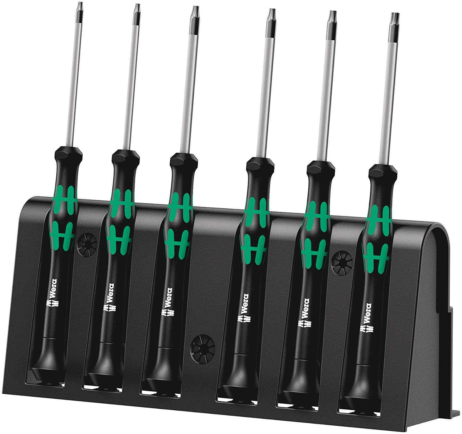 Wera Kraftform 2067 Micro Screwdriver Set - Torx Tip 6 Piece Set 05118154001 Hand Tools Screwdrivers - Micro Instrument Jeweller Screwdrivers - Screwdriver Bits and Allen Keys Wera Micro Series Screwdrivers - Sets