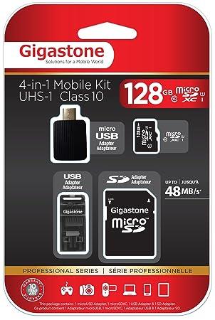 Tarjeta 128GB microSD HC Clase 10 (C10 U1) Gigastone 4in1 de ...