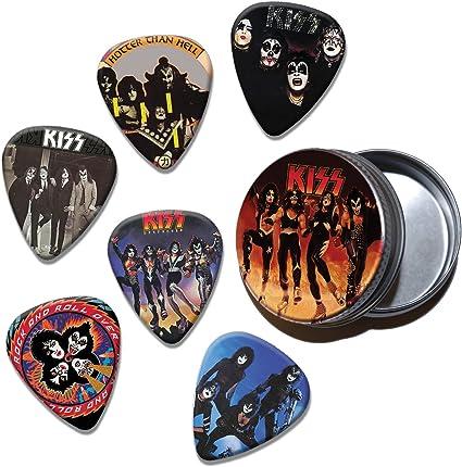 Kiss Juego 6 púas para guitarra en Tin (Collection B): Amazon.es ...