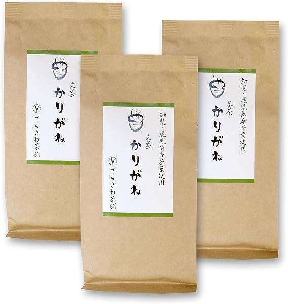 てらさわ茶舗 茎茶かりがね 知覧茶 鹿児島茶の茎茶 200g×3袋セット