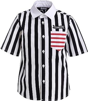 GULLIVER Camisa para niño o niña, a rayas, manga corta, 2-7 ...
