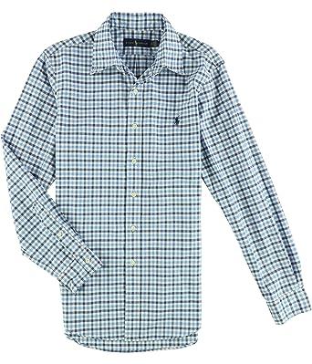 b7c39108 RALPH LAUREN Polo Men's Checked Oxford Classic Fit Button-Down Shirt ...