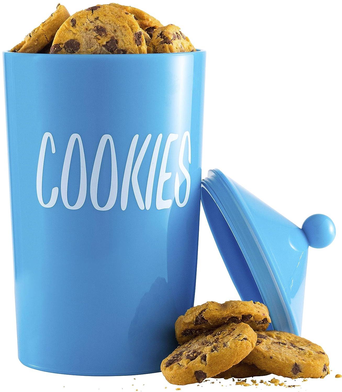 Tehila Collection Lucite Cookie Jar w//Lid 8.5 Blue.