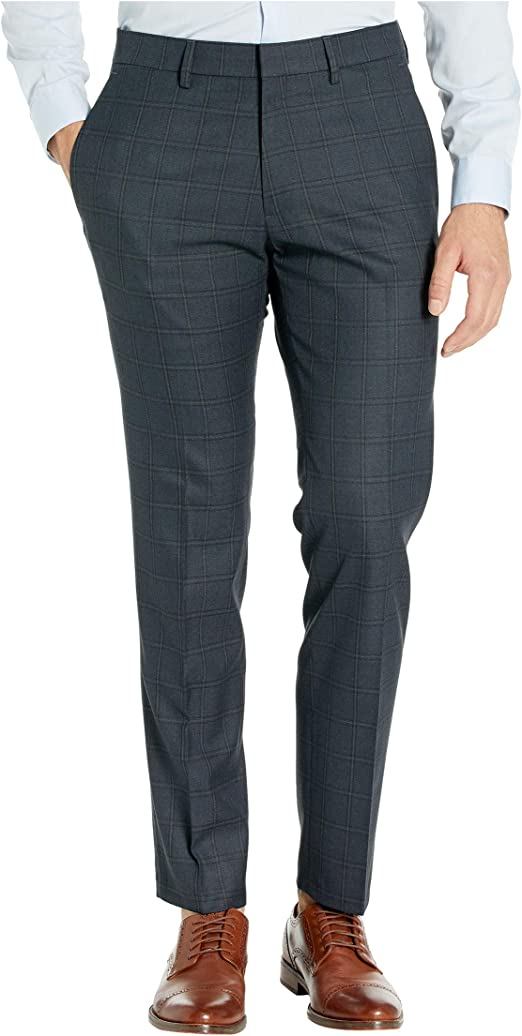 Kenneth Cole REACTION Mens Size 38W x 32L Flat Front Dress Pant Charcoal