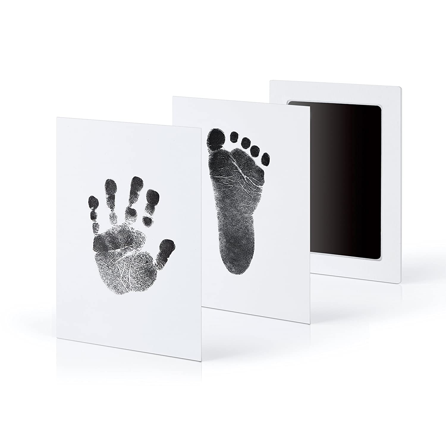 3-Pack Extra Large Baby Safe Inkless Touch Handprint and Footprint Ink Pads, 100% Non-Toxic & Mess Free minne minne01