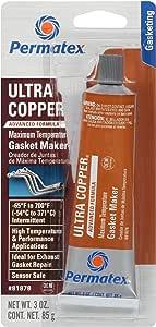 Permatex 81878 Ultra Copper Maximum Temperature RTV Silicone Gasket Maker, 3 oz. Tube