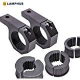 "Off-Road ATV UTV Light Bar Mounts Mounting Bracket Bar Clamp Kits [1""/1.5""/1.75""/2"" Inch] [Horizontal Bar] [Aluminium] [2 Units] Bull Bar UTV Roll Bar Clamp Tube Roll Cage Clamps Mount For ATV UTV"