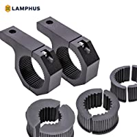"""LAMPHUS Cruizer LED Off-Road Light Horizontal Bar Clamp Mounting Kit 1""""/1.5""""/1.75""""/2"""" [2 Clamps] [Includes Allen Hex Key] [User-friendly] - For Light Bar Bull Bar Tube Clamp Roof Roll Cage Holder"""