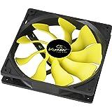 Akasa 14cm Viper Fan - Ventilador de PC (Ventilador, Carcasa del ordenador, 14 cm, Negro, Amarillo, 12V, 2,5 cm)