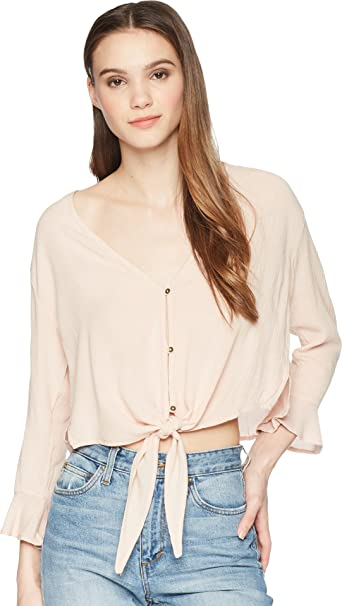 96f4a7f81 Billabong Junior's Girl Crush Top, Tan Line, M: Amazon.co.uk: Clothing