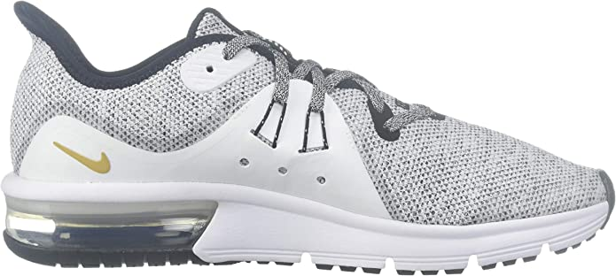 Noir//Blanc//Or Taille 40 Nike Chaussures Air Max Sequent 3 GS