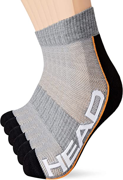 Pack of 3 HEAD Unisexs Quarter Socks