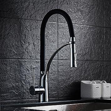 auralum® rubinetti nero cucina altia miscelatore cucina rubinetto ... - Rubinetti Per Lavello Cucina