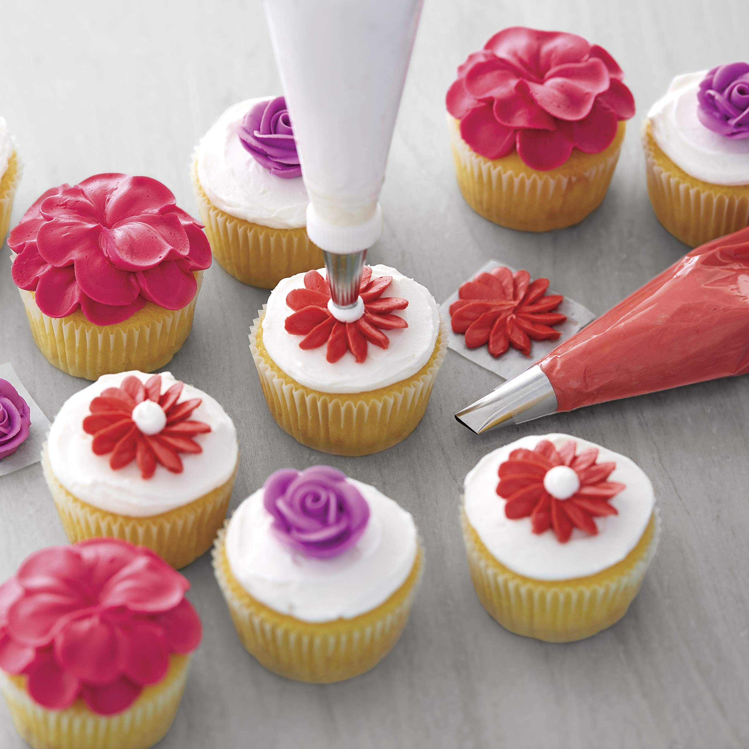 Wilton Decorator Preferred Buttercream Cake Decorating Set, Creating Your Masterpiece is as Easy as Cake, 48-Piece (Renewed) by Wilton (Image #9)